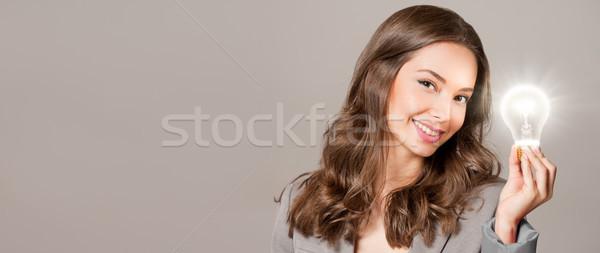 創造 シンボル ゴージャス 小さな 女性実業家 ストックフォト © lithian