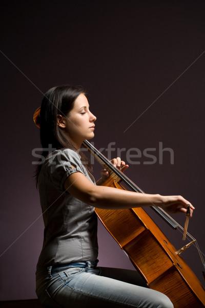 Apaixonado real artista mulher jovem jogar clássico Foto stock © lithian