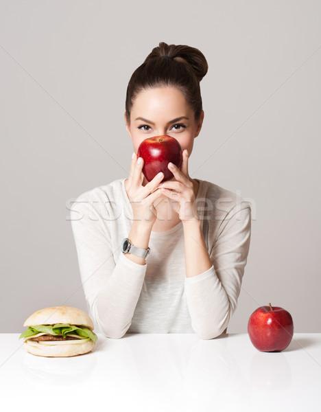 Dieta opciones retrato jóvenes morena Foto stock © lithian