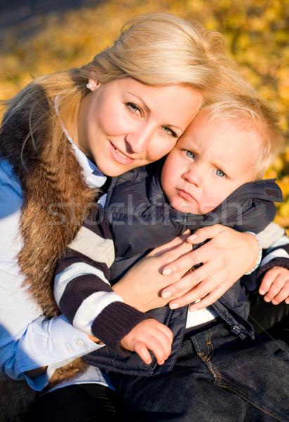 Bana benim anne çekici genç anne Stok fotoğraf © lithian