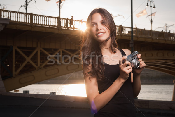 Young photographer. Stock photo © lithian