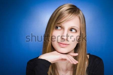Bevallig vriendelijk jonge blond vrouw Stockfoto © lithian