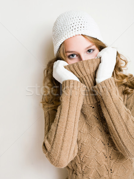 Turtleneck hide and seek. Stock photo © lithian