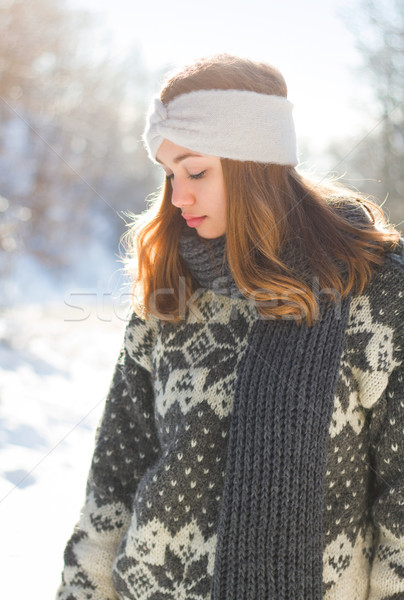 Fashion for the cold days. Stock photo © lithian
