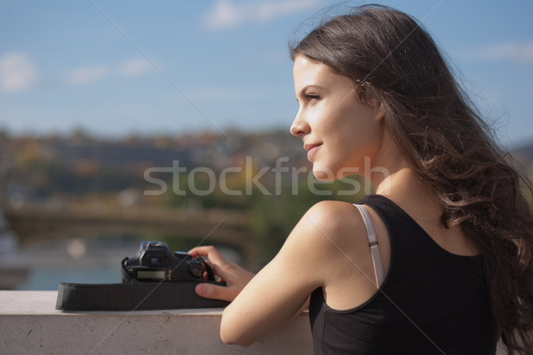 Absorbing the view. Stock photo © lithian