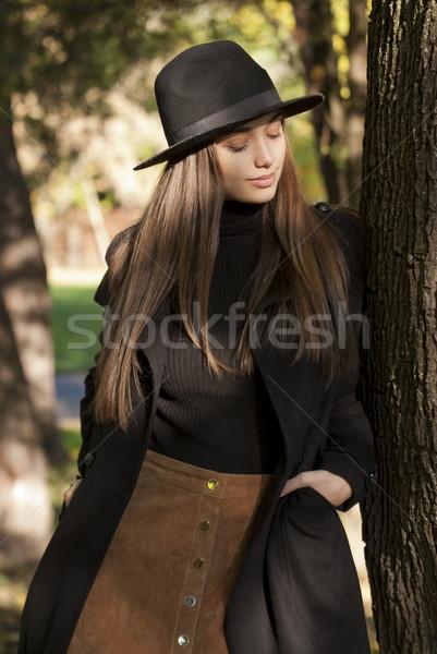 Autumn fashion beauty. Stock photo © lithian