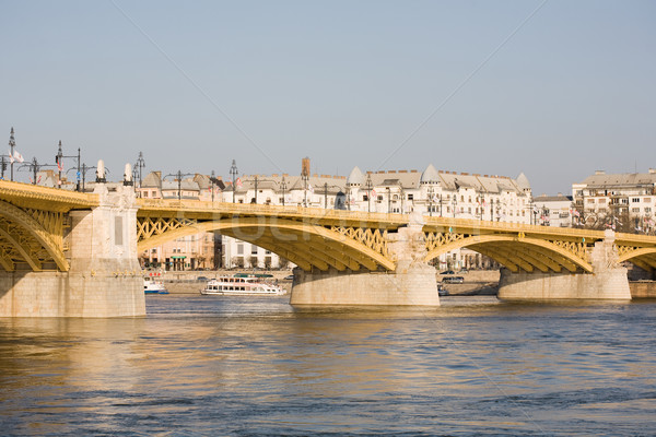 The recently renewed Margit bridge. Stock photo © lithian