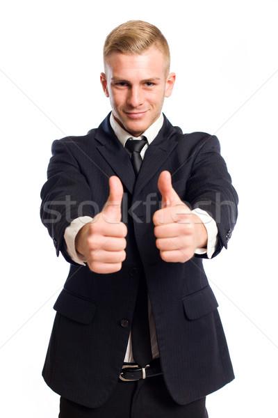 ストックフォト: 2 · 肖像 · 小さな · ビジネスマン