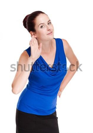Expressivo mulher jovem retrato atraente jovem Foto stock © lithian