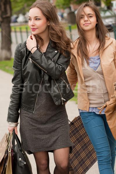 Girlfriends go shopping. Stock photo © lithian