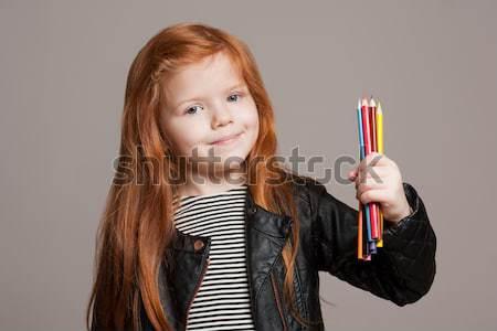 молодые талант стороны портрет красивой Сток-фото © lithian