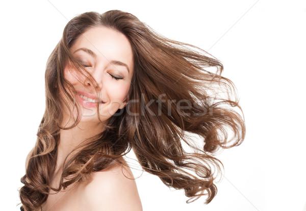 Strong full hair. Stock photo © lithian