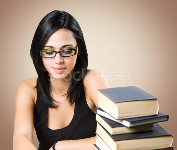 Gorgeous young student woman. Stock photo © lithian