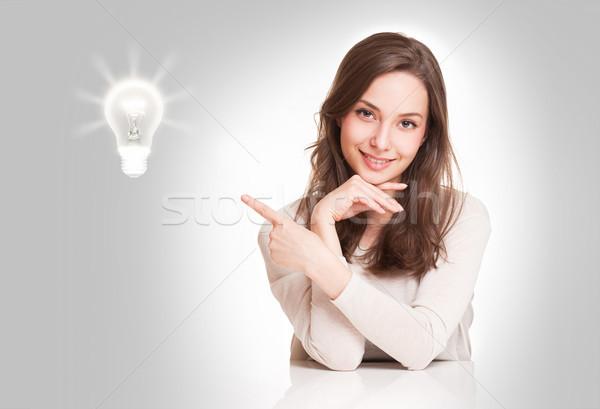 Stockfoto: Jonge · vrouw · creativiteit · symbool · portret · prachtig · jonge
