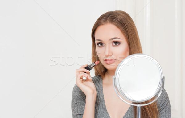 Amazing makeup beauty. Stock photo © lithian