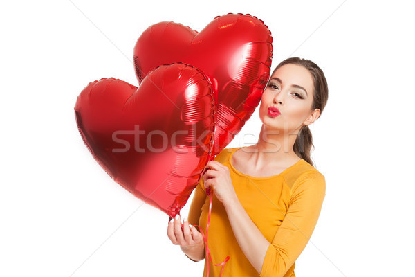 My floating hearts. Stock photo © lithian