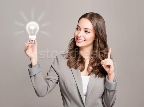 Twórczej pomysły przepiękny młodych kobieta interesu Zdjęcia stock © lithian