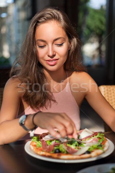 Young tourist woman having fun. Stock photo © lithian