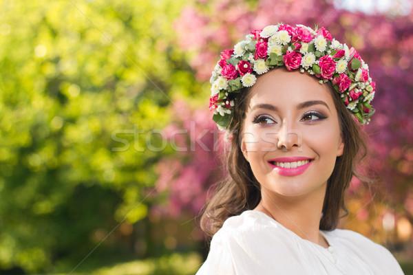 удивительный природного весны красоту улице портрет Сток-фото © lithian