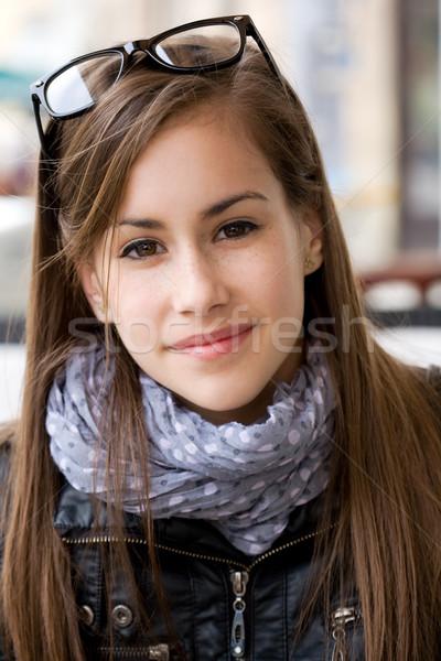 Sevimli genç genç öğrenci kız Stok fotoğraf © lithian
