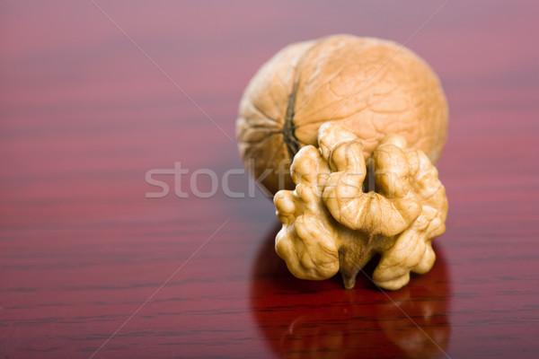 Iştah açıcı ceviz sağlıklı olgun kahverengi karanlık Stok fotoğraf © lithian