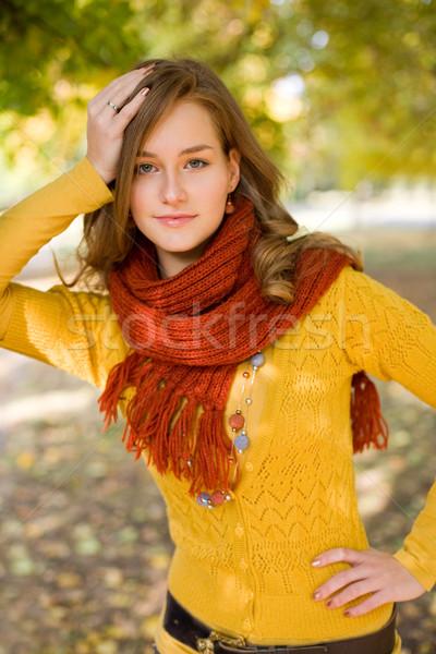 Colorido harmonia outono retrato elegante amigável Foto stock © lithian