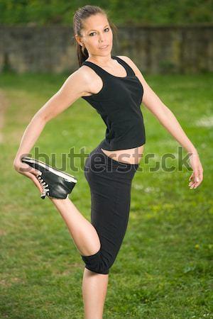 Just streching... Stock photo © lithian