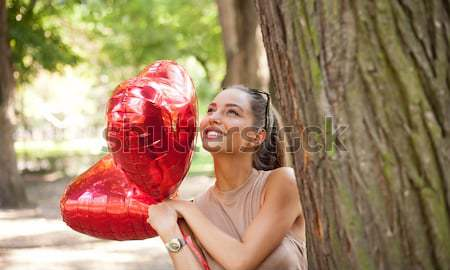 Stok fotoğraf: Benim · yaz · kalpler · güzel · genç