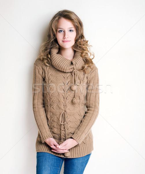 Winter fashion girl. Stock photo © lithian