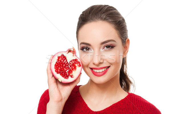 Vitamina tratamiento jóvenes morena belleza colorido Foto stock © lithian