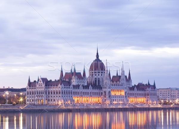 рано рассвета красивой исторический парламент Сток-фото © lithian