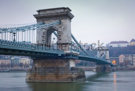 Ponte pest lato storico catena shot Foto d'archivio © lithian