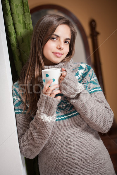 A cup of hot beverage. Stock photo © lithian