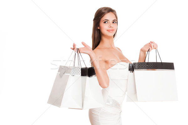 Gorgeous young shopper. Stock photo © lithian