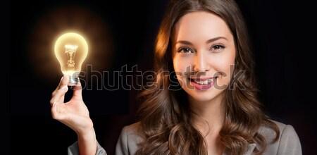 考え ゴージャス 小さな 女性実業家 ストックフォト © lithian