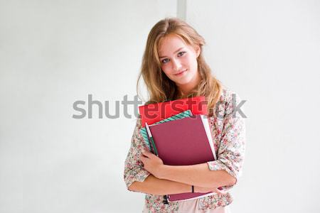 Stock photo: Beautiful confident student girl.