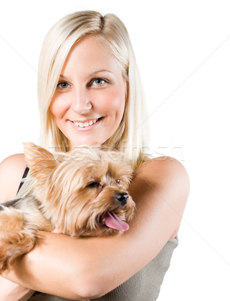 Me and my pet. Stock photo © lithian