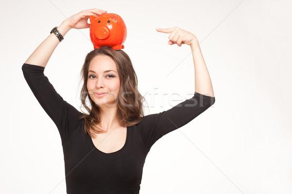 портрет великолепный молодые брюнетка женщину позируют Сток-фото © lithian
