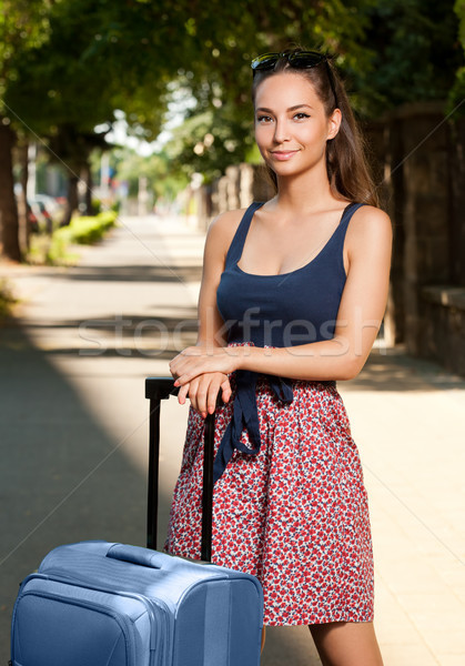 Beautiful young traveler. Stock photo © lithian