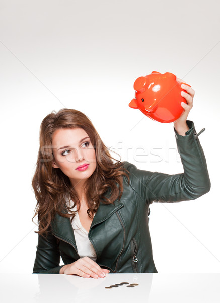 Mijn spaargeld portret cool mooie jonge Stockfoto © lithian