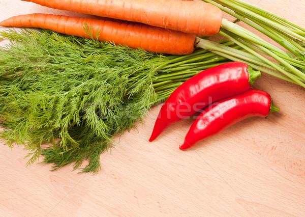 Healthy fresh raw Ingredients. Stock photo © lithian