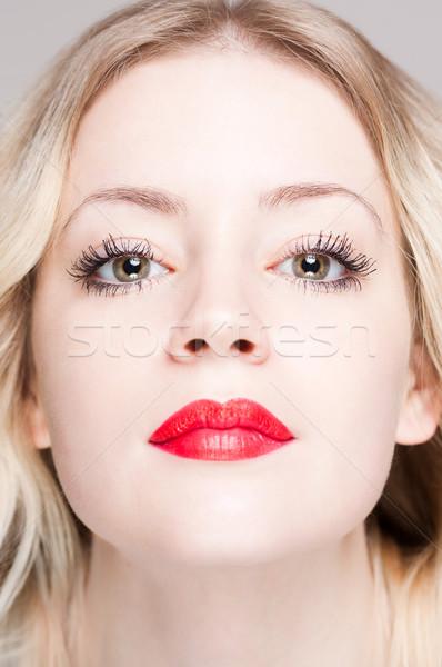 Pálido belleza primer plano retrato jóvenes Foto stock © lithian