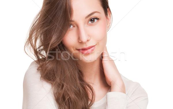 Ritratti giovani espressiva bruna bellezza Foto d'archivio © lithian