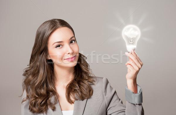 Koncepcje pomysły przepiękny młodych kobieta interesu Zdjęcia stock © lithian