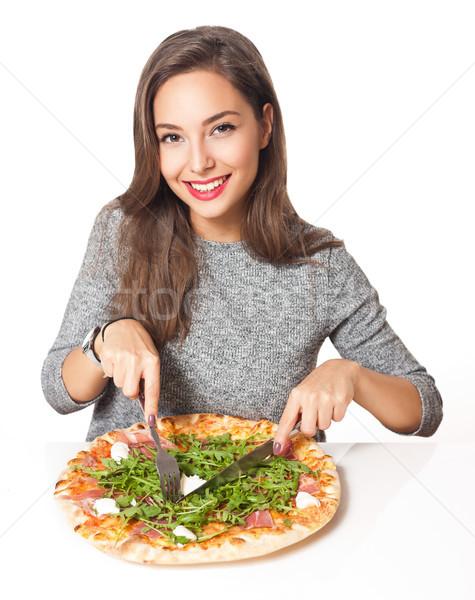 İtalyan tat güzel genç esmer kadın Stok fotoğraf © lithian