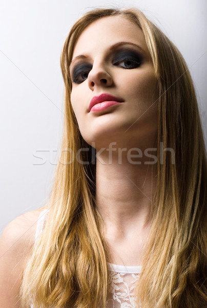 Young blond fashion model. Stock photo © lithian