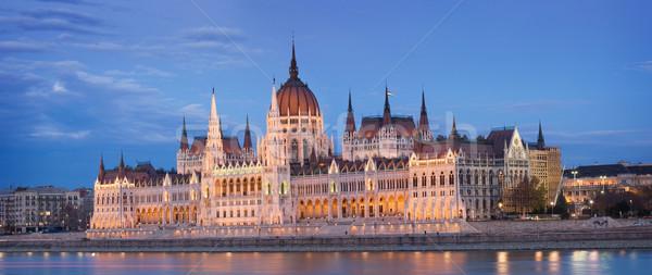 Hongrois parlement belle historique bâtiment ville Photo stock © lithian