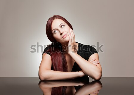 Young expressive beauty. Stock photo © lithian