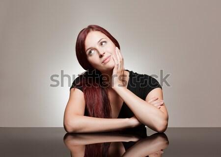Jovem expressivo beleza retrato mulher jovem Foto stock © lithian