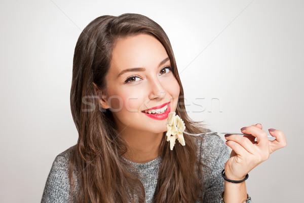 итальянский вкус красивой молодые брюнетка женщину Сток-фото © lithian